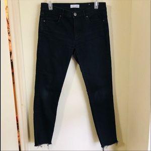Ann Taylor ankle skinny black jeans